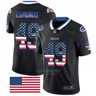 Camiseta NFL Limited Buffalo Bills Edmunds Rush USA Flag Negro