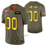 Camiseta NFL Limited Kansas City Chiefs Personalizada 2019 Salute To Service Verde