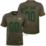 Camiseta NFL Limited Nino Green Bay Packers Personalizada Salute To Service Verde