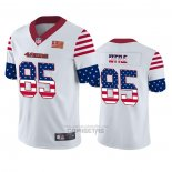 Camiseta NFL Limited San Francisco 49ers George Kittle Independence Day Blanco