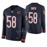 Camiseta NFL Therma Manga Larga Chicago Bears Roquan Smith Azul