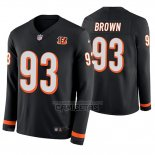 Camiseta NFL Therma Manga Larga Cincinnati Bengals Andrew Brown Negro