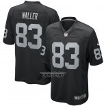 Camiseta NFL Game Las Vegas Raiders 83 Darren Waller Negro