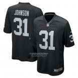 Camiseta NFL Game Las Vegas Raiders Isaiah Johnson Negro