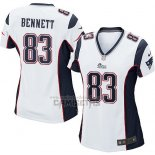 Camiseta NFL Game Mujer New England Patriots Bennett Blanco