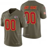 Camiseta NFL Limited Kansas City Chiefs Personalizada 2017 Salute To Service Verde