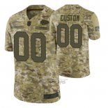 Camiseta NFL Limited Kansas City Chiefs Personalizada Salute To Service Verde