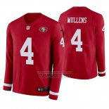 Camiseta NFL Therma Manga Larga San Francisco 49ers Nick Mullens Rojo