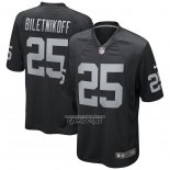 Camiseta NFL Game Las Vegas Raiders Fred Biletnikoff Retired Negro