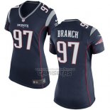 Camiseta NFL Game Mujer New England Patriots Branch Negro