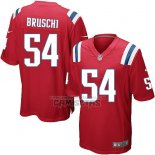 Camiseta NFL Game Nino New England Patriots Bruschi Rojo
