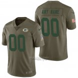 Camiseta NFL Limited Green Bay Packers Personalizada 2017 Salute To Service Verde