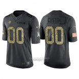 Camiseta NFL Limited Pittsburgh Steelers Personalizada 2016 Salute To Service Negro