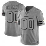 Camiseta NFL Limited Pittsburgh Steelers Personalizada Team Logo Gridiron Gris
