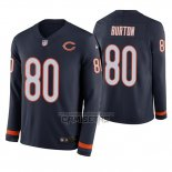 Camiseta NFL Therma Manga Larga Chicago Bears Trey Burton Azul