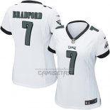 Camiseta NFL Game Mujer Philadelphia Eagles Bradford Blanco
