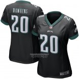 Camiseta NFL Game Mujer Philadelphia Eagles Brian Dawkins Retired Negro