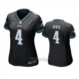 Camiseta NFL Game Mujer Philadelphia Eagles Jalen Hurts Negro