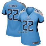 Camiseta NFL Game Mujer Tennessee Titans Derrick Henry Azul2
