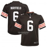 Camiseta NFL Game Nino Cleveland Browns Baker Mayfield Marron3