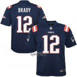 Camiseta NFL Game Nino New England Patriots Tom Brady Azul Color Rush