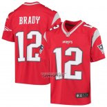 Camiseta NFL Game Nino New England Patriots Tom Brady Inverted Rojo