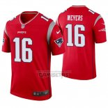 Camiseta NFL Legend New England Patriots 16 Jakobi Meyers Inverted Rojo