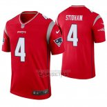 Camiseta NFL Legend New England Patriots 4 Jarrett Stidham Inverted Rojo