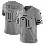 Camiseta NFL Limited Green Bay Packers Personalizada Team Logo Gridiron Gris