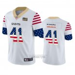 Camiseta NFL Limited New Orleans Saints Alvin Kamara Independence Day Blanco