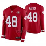 Camiseta NFL Therma Manga Larga San Francisco 49ers Fred Warner Rojo