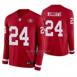 Camiseta NFL Therma Manga Larga San Francisco 49ers K'waun Williams Rojo