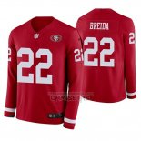 Camiseta NFL Therma Manga Larga San Francisco 49ers Matt Breida Rojo