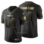 Camiseta NFL Limited Green Bay Packers Personalizada Golden Edition Negro