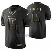 Camiseta NFL Limited Houston Texans Will Fuller V Golden Edition Negro