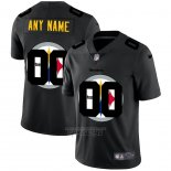 Camiseta NFL Limited Pittsburgh Steelers Personalizada Logo Dual Overlap Negro