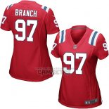 Camiseta NFL Game Mujer New England Patriots Branch Rojo