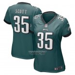 Camiseta NFL Game Mujer Philadelphia Eagles Boston Scott Verde