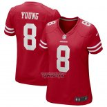 Camiseta NFL Game Mujer San Francisco 49ers Steve Young Retired Rojo
