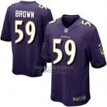Camiseta NFL Game Nino Baltimore Ravens Brown Violeta