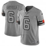 Camiseta NFL Limited Cleveland Browns Mayfield Team Logo Gridiron Gris