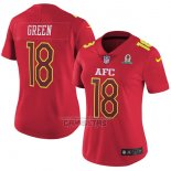 Camiseta NFL Mujer Pro Bowl AFC Green 2017 Rojo