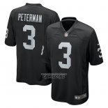 Camiseta NFL Game Las Vegas Raiders Nathan Peterman 3 Negro