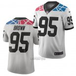 Camiseta NFL Limited Carolina Panthers Derrick Brown Ciudad Edition Blanco