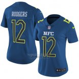 Camiseta NFL Mujer Pro Bowl NFC Rodgers 2017 Azul
