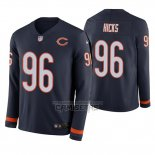 Camiseta NFL Therma Manga Larga Chicago Bears Akiem Hicks Azul
