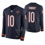 Camiseta NFL Therma Manga Larga Chicago Bears Mitchell Trubisky Azul