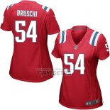 Camiseta NFL Game Mujer New England Patriots Bruschi Rojo