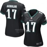 Camiseta NFL Game Mujer Philadelphia Eagles Agholor Negro
