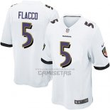 Camiseta NFL Game Nino Baltimore Ravens Flacco Blanco